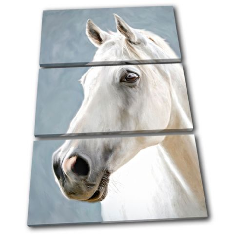 Horse White Animals - 13-0653(00B)-TR32-PO